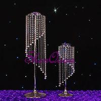 ingrosso centerpieces acrilici per matrimoni-centrotavola acrilico trasparente per la tavola da matrimonio, lampadari acrilici da tavolo centrotavola per matrimoni