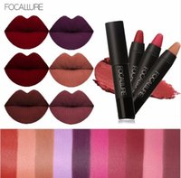Wholesale use lipstick resale online - Focallure colors Matte lipstick Lipstick er long lasting waterproof easy to use nude cosmetics cosmetic Lips