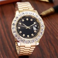 Wholesale Multi Color Pearls - relogio masculino Luxury Brand Gold President Day-Date Diamonds Watch Men Stainless Mother of Pearl Dial Diamond Bezel Automatic WristWatch