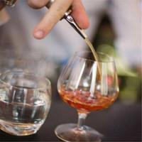 frei fließende flaschenpourer großhandel-Neue Edelstahl Likör Rotwein Pourers Free Flow Weinflasche Pour Auslauf Stopper Barware b882