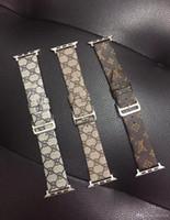 sehen sie vereinigte staaten großhandel-Für Apple Watch123 Fashion Europe und die Vereinigten Staaten Marke Leder für iwatch1 / 2/3 38M / 42MM Uhrenarmband