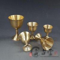чистые медные чашки оптовых-Чистой меди, чашки, украшения, предметы домашнего обихода, украшения, ремесла, подарки, медь оптом, малого и среднего.