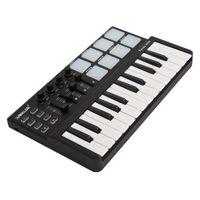 tragbare trommel großhandel-Großhandel Panda Mini Portable Mini-25-Key-USB-Tastatur und Drum Pad MIDI-Controller
