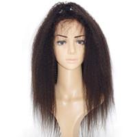perucas italianas cabelo humano venda por atacado-Yaki italiano Pré Arrancadas 360 Rendas Perucas Dianteiras Glueless 360 Cheia Do Laço Perucas de Cabelo Humano Para As Mulheres Dianteira Do Laço Perucas de Cabelo Humano Kinky