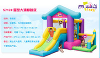Wholesale bouncy slides - free shipping bouncy castle with slide , kids inflatable jumping bounce Commercial new design inflatable bounce for sale
