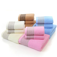 Wholesale bathroom towel colors - Cotton Holiday Bath Beach Towels 70*140cm Shower Towel Soft Thick Sport Towel Home Textile Bathroom Towels 4 Colors OOA4278