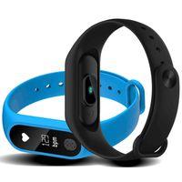 ingrosso miglior android pc-Miglior venditore Intelligente wristband Fitness Tracker Frequenza cardiaca Salute Wristband Pedometro IP67 Impermeabile Smart Bracelet M2 Per Android IOS 20 pc / lotto