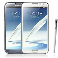 2gb ram 16gb rom телефон оптовых-Оригинал Samsung Galaxy Note 2 Восстановленное Примечание2 N7100 N7105 3G / 4G LTE 5,5 дюйма Quad Core 2GB RAM 16GB ROM разблокирована телефон DHL 10шт