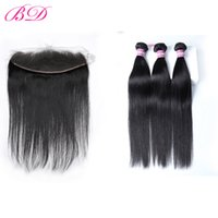 Wholesale human hair bundle sales for sale - Group buy BD Hair Brazilian Peruvian Indian Malaysian Straight Hair Weave Bundles Lace Frontal Remy Human Hair Bundles With Frontal Hot Sale