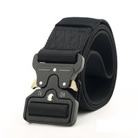 örgülü erkekler toptan satış-New 4.5cm Buckle Tactical Belt High Quality Nylon 125cm Casual Braided Belt Men Women Trainin H3E12