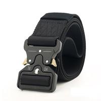 ingrosso cinture tattiche-Nuovo 4.5 cm Cintura tattica fibbia in nylon alta qualità 125 cm Cintura intrecciata casual uomo donna Trainin H3E12