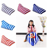 Wholesale toy diamonds for sale - Stuffed Striped Storage Bean Bag Diamond Shaped Storage Chair Portable Kids Clothes Toy Storage Bags Colors OOA3974