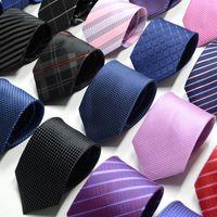 mens krawatten-designs großhandel-High-End-Seidenkrawatte Fashion Design Mens Business Silk Krawatten Jacquard Business Tie Hochzeit Krawatten 80 Farben