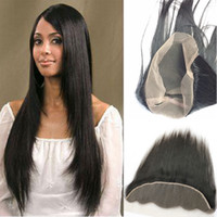 Wholesale sale peruvian hair extensions resale online - 360 Lace Frontal Brazilian Virgin Hair X4 Frontal Closure Unprocessed A Straight Hair Extensions Peruvian Malyasian Indian Hot Sales