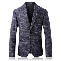 ingrosso uomini coreani del cappotto-Classico Slim Fit Blazer Masculino 2018 nuovo arrivo Business Blazer uomini giacca stile coreano formale degli uomini cappotto casual