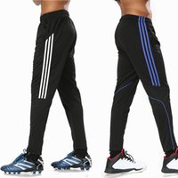 Wholesale Black Fitness Pants - Wholesale-New Sports jogging Running Pants Men Breathable Fitness GYM Cycling Hiking training Workout Basketball Soccer Leggings trousers