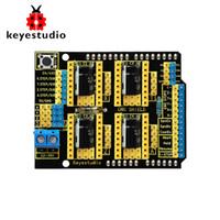 escudos de la máquina al por mayor-Envío gratis! Keyestudio CNC escudo V3 Grabador para Arduino Máquina de grabado