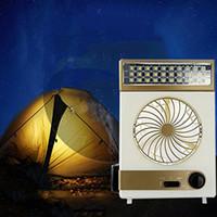 led hayranları toptan satış-Soğutma Fanı Kamp Lamba Çok fonksiyonlu Güneş Masa Lambası El Feneri Torch LED Ev Kullanımı için Güneş ve AC Kordon Şarj Açık Kamp