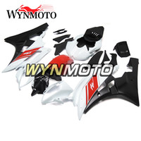 Wholesale yamaha r6 body kit white - Full Fairings For Yamaha YZF R6 2006-2007 06 07 Injection ABS Motorcycle Motorbike Gloss White Pearl Red Body Kits Customized New Bodywork
