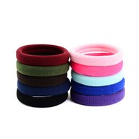 Wholesale ring hair fashion online - 10pc Fashion Casual Women Or Girls Elastic Rope Ring Hairband Christmas Party Solid Ponytail Different Color Hair Ropes