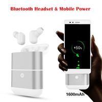 x2 handy großhandel-EgoCSM X2-tws Bluetooth Kopfhörer drahtloses headset mit beweglicher Energie kann das Telefon für iphoneX 8 6 7 HUAWEI xiaomi Samsung aufladen