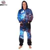 848bd0230c42 3d Galaxy Space Print Men Rompers Jumpsuits For Women 2018 Couple Romper Long  Sleeve Zipper Up Winter Men Women s Wear Bodysuits