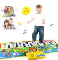 baby musik spiel matten großhandel-Hot tastatur touch play tastatur musikinstrument singen gym carpet matte beste kinder baby geschenk musik toys für kinder