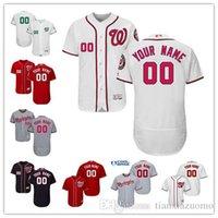 ingrosso ricami nazionali-Maglia da baseball personalizzata da uomo 2016 Wn Nationals Autentica maglia personalizzata Ricamo Taglia S-3XL
