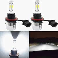 Wholesale H11 Headlights - 1 Pair S2 Auto Car H4 H11 H7 H13 9004 9005 9006 LED Headlights 72W 6500K 8000LM COB Auto Led Headlamp 12v 24v