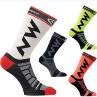 Wholesale cycling socks sale resale online - NW Unisex Brand Sport Socks Breathable Road Cycling Stockings Outdoor Sports Racing Cycling Hot Sale New Arrival yk dd
