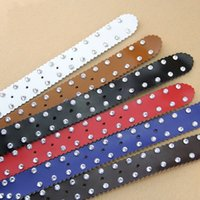 Wholesale wide vintage leather belt - High Quality Genuine Leather Belt Vintage With Full Rhinestone Encrusted Waistband For Women Classic Waist Belts New Arrival 28dd B