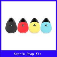 Wholesale drop charge - Suorin Drop Starter Kit 310mAh Built-in Battery W 2ml Cartridge Water-drop Design & Micro USB Charging E-cig Vape Kit DHL Shipping Free