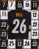 Wholesale Pittsburgh Embroidery - Pittsburgh Top Men's Women's Youth Steeler Jerseys #10 Martavis Bryant 12 Terry Bradshaw 22 William Gay 26 Le'Veon Bell Embroidery Jerseys