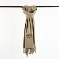 Wholesale wholesale ladies winter scarves - Hot Brand New Fashion Embroidery Men's Winter Warm Tassels Scarf Cashmere Solid High Quality Pashmina Shawls Scarves for Ladies