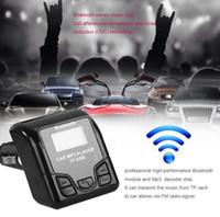 автомобильный bluetooth сотовый телефон handsfree оптовых-Универсальный Bluetooth громкой связи беспроводной автомобильный MP3 аудио плеер FM-модулятор с USB зарядное устройство ЖК-дисплей для мобильных телефонов GGA92 30 шт.
