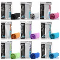 Wholesale travel children baby - 9 Colors 30*90cm Colorful Cooling Towel Long Instant Cooling Sport Towel for Travel Camping Gym Icy Cool Snap Towel CCA8561 120pcs