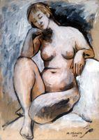 ingrosso art nudo donna nuda-Nude Art donna, pittura a olio di stampa di alta qualità di riproduzione Giclee su tela Modern Home Art Decor 3943