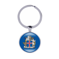 Wholesale norway sweden - Coat of arms of Keychain Denmark Iceland Norway Sweden Finland Country Flags Ker rings Men Women Jewelry Car Key holder Wholesale