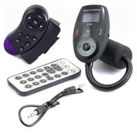 kit de dirección de coche al por mayor-Volante de control + Universal Pantalla LCD Bluetooth inalámbrico Car MP3 FM Transmisor Modulador Adaptador de radio Manos libres Car Cargador