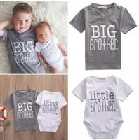 bebek bebek tişörtü toptan satış-INS Bebek erkek mektup baskı T-shirt bebek baskı tulum 2018 yaz Tees tops Butik çocuk Giyim Aile Eşleştirme Giyim C3954