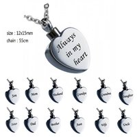 Wholesale urn funeral - Custom-made a variety of names personality heart ashes urn cremation funeral pendant necklace fashion jewelry accessories