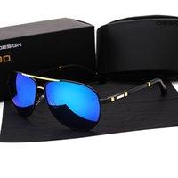 ingrosso scatole per la pesca-1 pz all'ingrosso designer di marca occhiali da sole polarizzati uomini donne telaio in lega di alta qualità pesca sportiva occhiali guida con casi e scatola