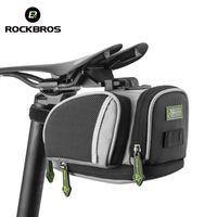 bicicleta de estrada fixa venda por atacado-ROCKBROS Ciclismo Saddle Bags Mountain Bike Estrada MTB Seat Post Bag Engrenagem Fixa Fixie Ciclo Traseiro Sacos Acessórios Para Bicicletas 3 Cores