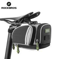 accesorios fijos para bicicletas al por mayor-ROCKBROS Sillines de ciclismo Mountain Road Bike MTB Seat Post Bag Fixed Gear Fixie Cycle Bolsas traseras Accesorios para bicicletas 3 colores