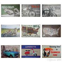 vente de peinture moto achat en gros de-20 * 30 cm Locomotive Signes D'étain Moto équitation Pour Profitez Étain Affiche Lambretta Route US 66 Peinture de Fer Vente Chaude dd