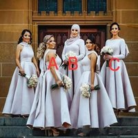 Elegant Puffy Big Bow Bridesmaid Dresses Muslim Arabic Women Formal Gowns  plus size wedding party dress Junior Bridesmaids GownsBC0176