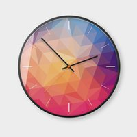 Wholesale euro stickers - Wholesale 4Styles Rainbow North Euro Style Wall Clocks Stickers Home Decor Bedroom Decoration Wall Mirror wallpaper Household Craft Suppiles