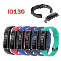 Wholesale waterproof android phone ip67 online – Fitness Tracker Band ID130 Smart Bracelet OLED Screen IP67 Waterproof Pedometer Fitness Tracker Smartband Wristband for IOS Android Phone