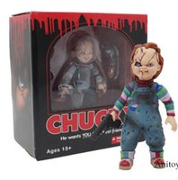Wholesale doll scale - Child's Play Bride of Chucky 1 10 Scale Horror Doll Chucky PVC Action Figure Toy 12cm