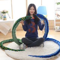 Wholesale plush snakes - 1pc 280cm Simulation Plush toys Giant Snake animals python Cloth Toy Soft Stuffed Dolls Bithday Christmas party Gifts baby Funny